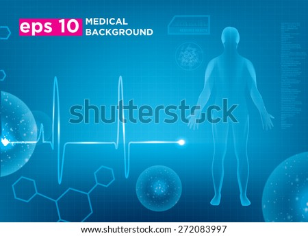 Modern medical vector template - stock vector