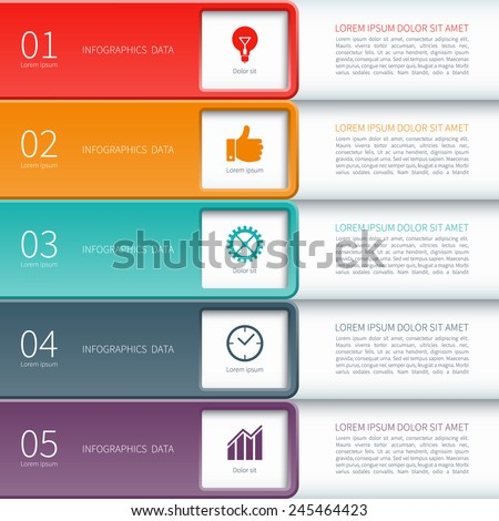 Modern minimal colorful infographics elements. Origami style. Vector illustration. Can be used for workflow layout, diagram, number and step up options, web design. - stock vector