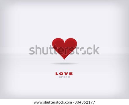 Modern minimalism vector valentine background - stock vector