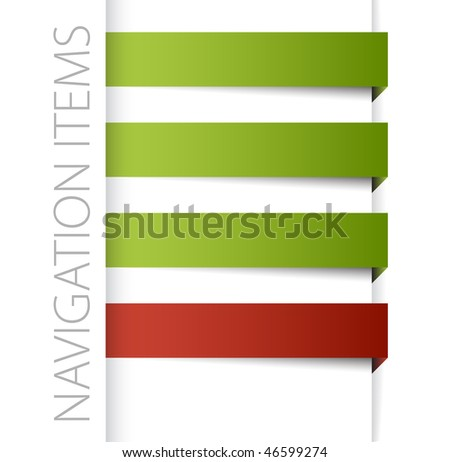 Modern navigation items in right bar on white background (vector) - stock vector
