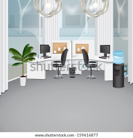 Modern Office - Vector Illustration, Graphic Design Editable For Your Design - stock vector
