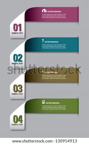 Modern options banner. Vector illustration. Eps 10. - stock vector