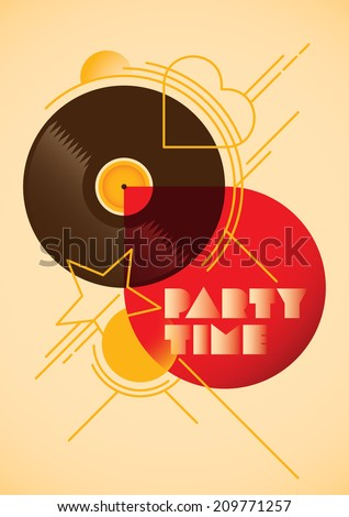 Modern party poster design. Vector illustration. - stock vector