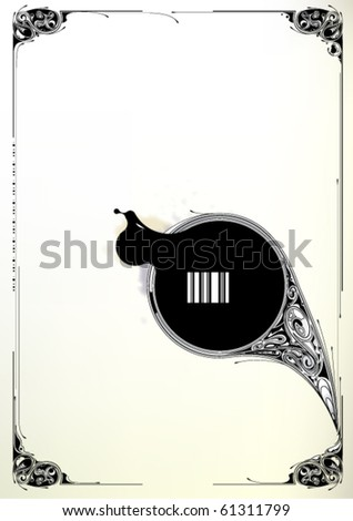 Modern pattern and circle banner for your text. Vector EPS 10 illustration. - stock vector
