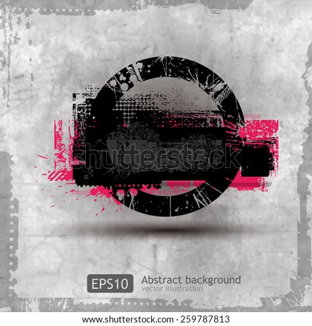 Modern pattern with circle banner for your text. Vector EPS 10 illustration. - stock vector