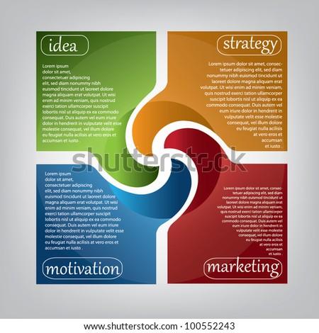 modern presentation banner - stock vector