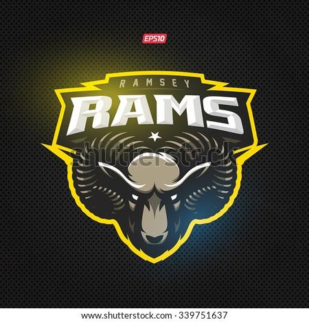 Modern professional rams logo for a sport team - stock vector