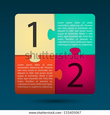 Modern Puzzle Design Layout | EPS10 Vector - stock vector