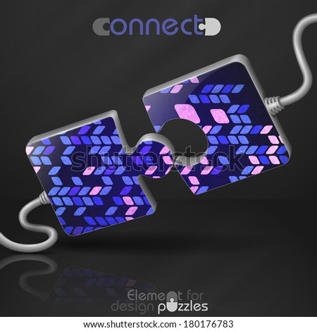 Modern Puzzle Template. Vector Illustration. Eps 10. - stock vector