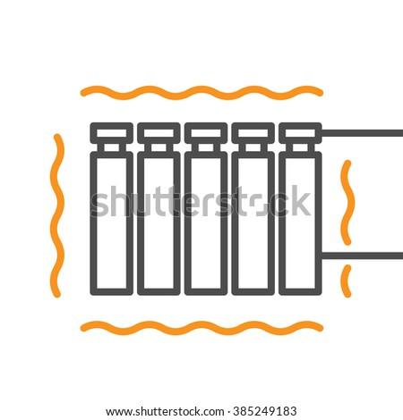 Modern radiator. Energy efficiency icon.  - stock vector