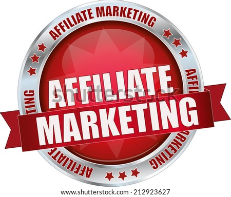 modern red affiliate marketing sign - stock vector