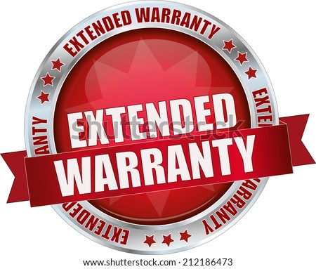Extended Warranty Logo Modern Red Extended Warranty