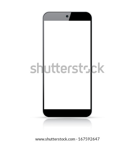 Modern responsive smartphone vector - Illustration isolated on white - stock vector