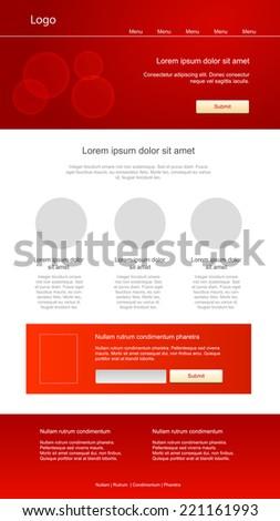 Modern responsive web design - stock vector
