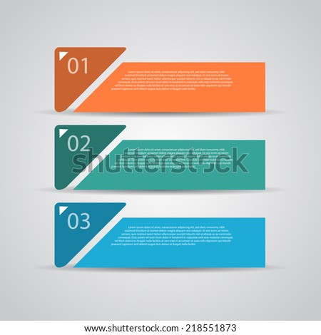 Modern retro design template / numbered banners - stock vector