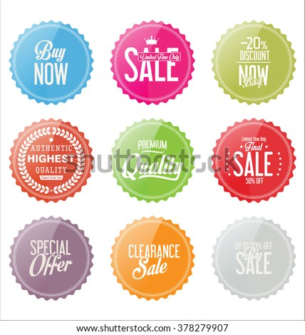 Modern Sale stickers and tags collection  - stock vector