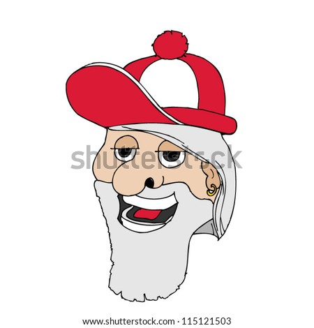 Modern Santa  Looks Young . - stock vector