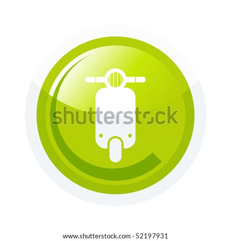 modern scooter sign - stock vector