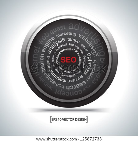 modern search optimization engine sign. - stock vector