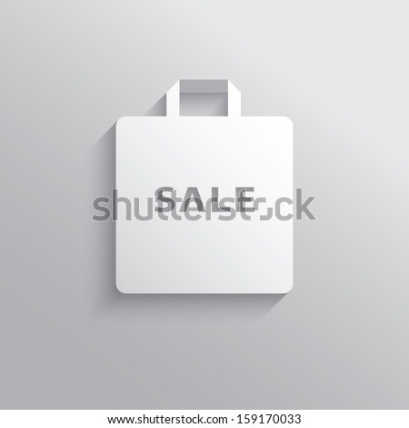 Modern shopping sale design vector illustration suitable for advertising sales or as a web icon, etc. - stock vector