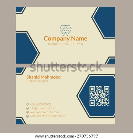Modern simple, creative, elegant business card template - 10 - stock vector