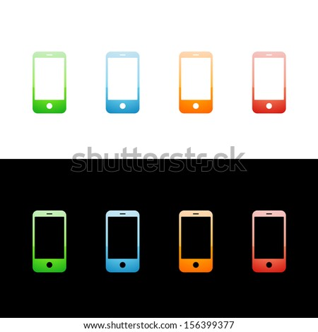 Modern Smart Phone Cell Phone Icon - stock vector