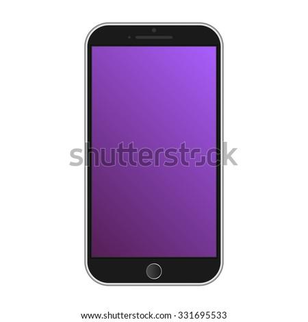 Modern smart phone isolation - stock vector