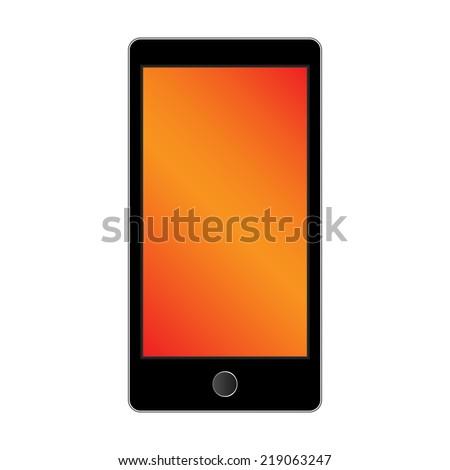 modern smart phone isolation on white background. Vector illustration - stock vector