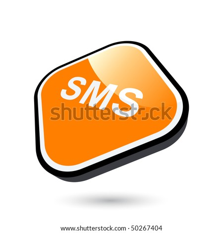 modern sms sign - stock vector
