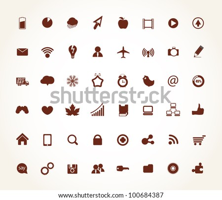 Modern social media icons collection - stock vector