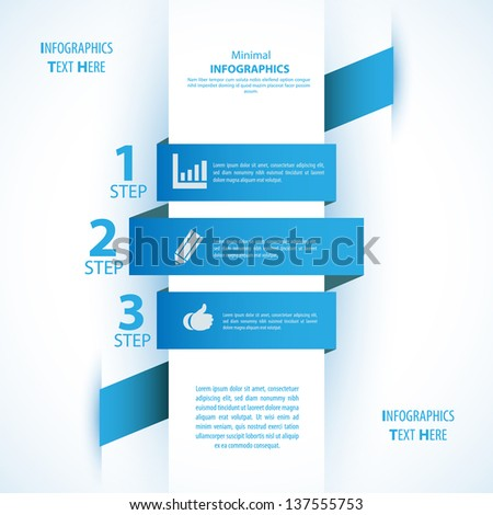 Modern soft color Design template / can be used for infographics - stock vector