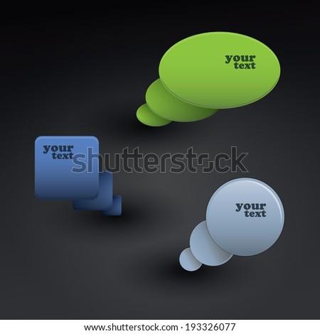 Modern Speech Bubbles - stock vector
