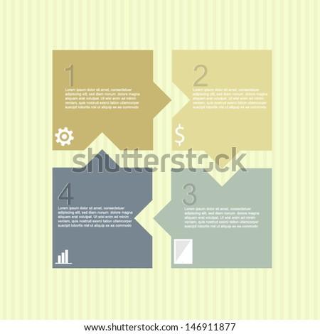 modern step options - stock vector