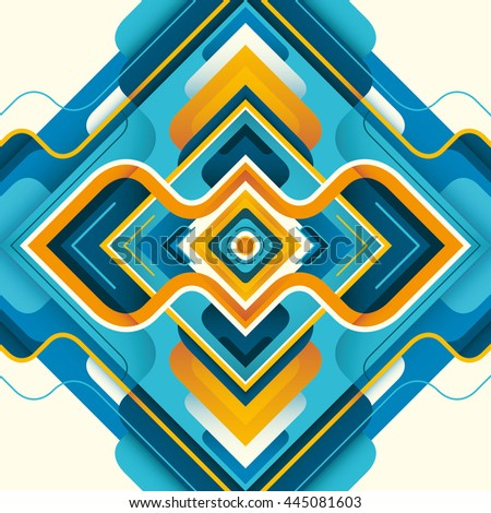 Modern style abstraction in color. Vector illustration. - stock vector