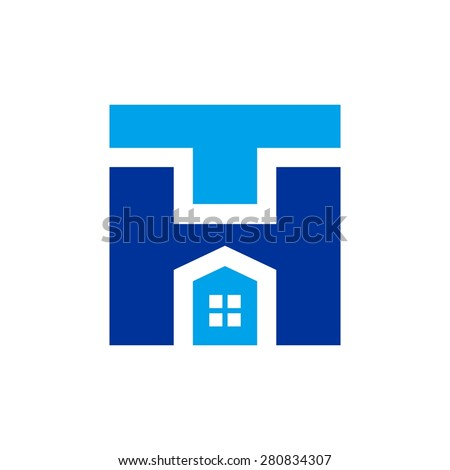 Modern t and h letter company logo clean design home for Modern house logo