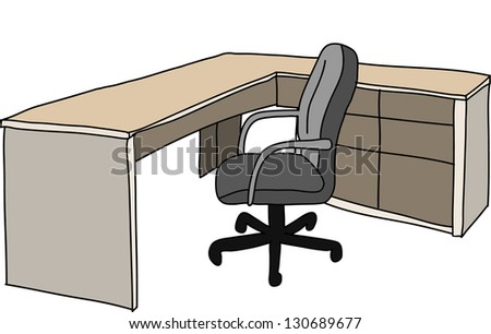 modern table - stock vector