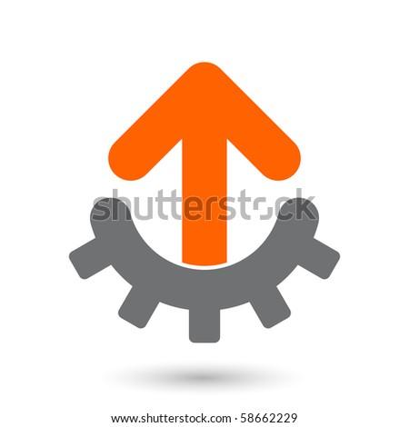 modern technical arrow sign - stock vector