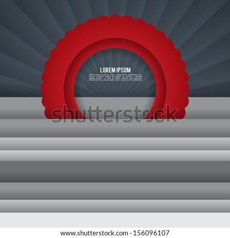 Modern template. EPS10. - stock vector