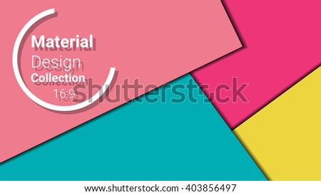 modern template for presentation 16:9 format. vector illustration. designed for business background, education, web, brochure, flyer. abstract creative concept layout template in pink, yellow colors - stock vector