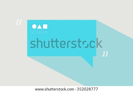 Modern text bubble. Text, link, comment. Design element with a text bubble. Information design infographics. Statistic Infographic vector. Template for text in a simple form. Flat design. - stock vector