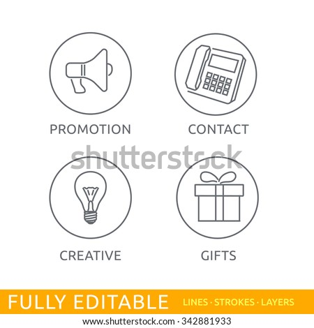 Modern thin line icons set of web site buttons. Premium quality outline symbol collection. Simple color linear pictogram pack. Stroke vector logo concept for web graphics. - stock vector