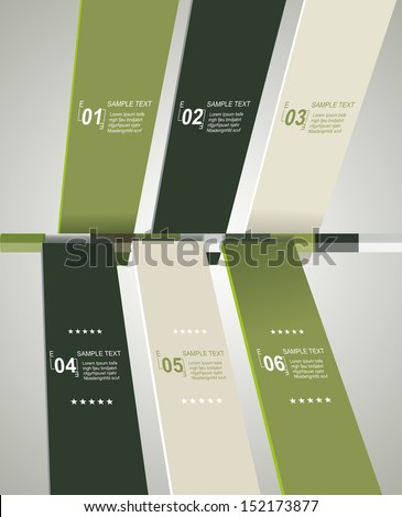 Modern timeline design template  - stock vector