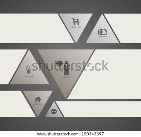 Modern triangle . Vector illustration. can be used for workflow layout, diagram, step options, web design, infographics, business concept, education diagram. - stock vector