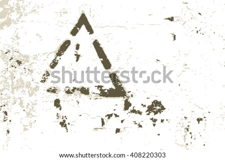 Modern urban grunge background  texture pattern with warning sign - stock vector