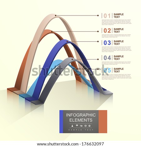 modern vector abstract arch infographic elements - stock vector