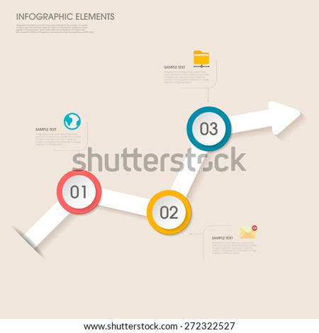 modern vector abstract arrow chart infographic elements.can be used for workflow layout, diagram, number options, web design.  illustration ,EPS10 - stock vector