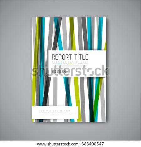 Modern Vector abstract brochure / book / flyer design template - light  blue and green version - stock vector