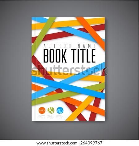Modern Vector abstract brochure / book / flyer design template - light  version - stock vector