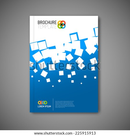 Modern Vector abstract brochure, report or flyer design template  - stock vector