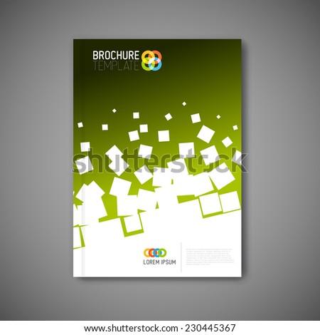 Modern Vector abstract brochure, report or flyer design template  - stock vector